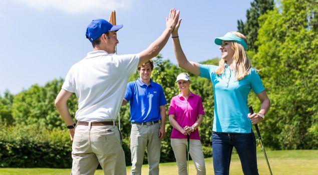 Short Golf met Limburgs ontvangst