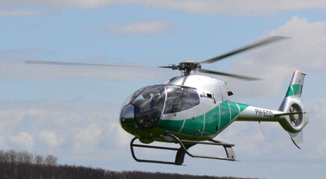 Helikopter Vliegen!! Of een Helikopter dropping?