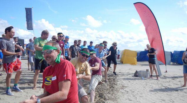 Teambuilding op het strand naar keuze incl. BBQ