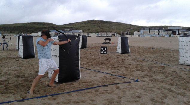 Middag adrenaline boost op het strand