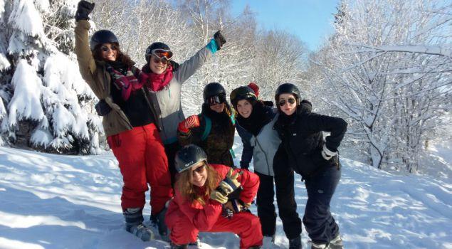 Vergaderen in de sneeuw