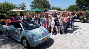 Vergaderen en cabrio rally in het groene hart